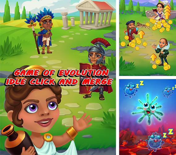 Game of evolution: Idle click and merge