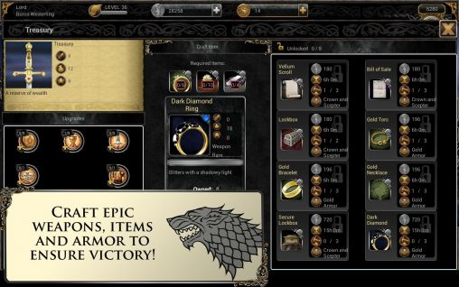 Screenshots von Game of thrones: Ascent für Android-Tablet, Smartphone.