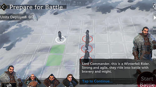 Screenshots von Game of thrones: Beyond the wall für Android-Tablet, Smartphone.