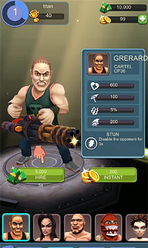 Screenshots von Gangster squad: Fighting game für Android-Tablet, Smartphone.