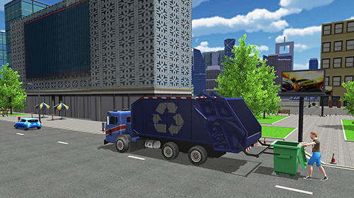 Screenshots von Garbage truck simulator pro 2017 für Android-Tablet, Smartphone.