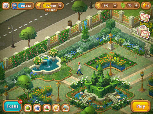 Jogue Gardenscapes: New acres para Android. Jogo Gardenscapes: New acres para download gratuito.