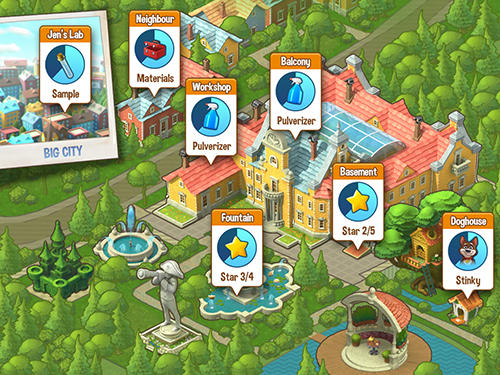 Screenshots do Gardenscapes: New acres - Perigoso para tablet e celular Android.