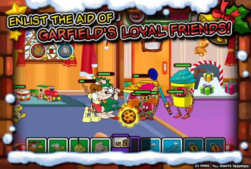 Screenshots von Garfield saves the holidays für Android-Tablet, Smartphone.