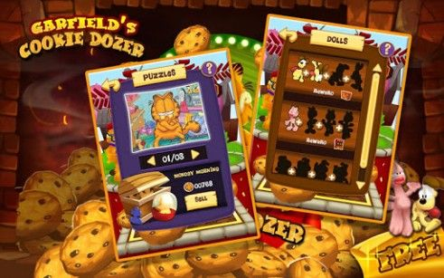 Garfield's cookie dozer screenshot 2