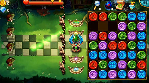 Screenshots von Gem blitz: Match 3 RPG für Android-Tablet, Smartphone.