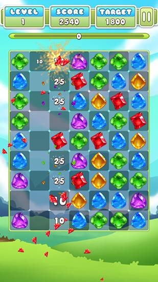 Gem crush. Crazy gem match fever картинка из игры 3