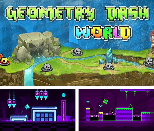 In addition to the game Geometry Dash v2.10.0 for Android phones and tablets, you can also download Geometry dash world for free.