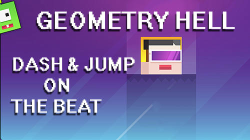 Geometry hell: Dash and jump on the beat poster