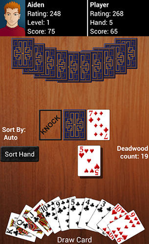 Screenshots von Gin rummy für Android-Tablet, Smartphone.