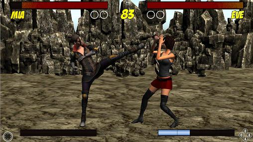 Android タブレット、携帯電話用Girl fight: The fighting gamesのスクリーンショット。