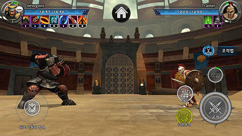 Screenshots von Gladiator fight: 3D battle contest für Android-Tablet, Smartphone.