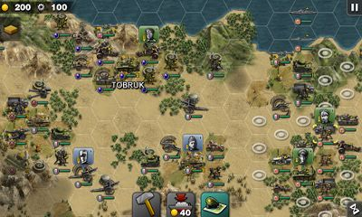 Screenshots von Glory of Generals HD für Android-Tablet, Smartphone.