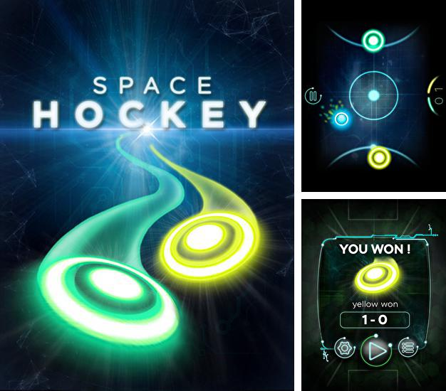 Glow air space hockey