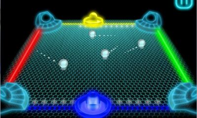 Screenshots of the Glow Hockey 3D for Android tablet, phone.