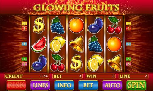 Glowing fruits slot screenshot 1