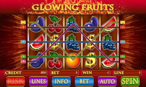 Glowing fruits slot screenshot 2