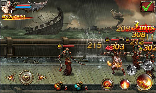 Kostenloses Android-Game God of War: Ketten von Olympus. Vollversion der Android-apk-App Hirschjäger: Die God of war: Chains of Olympus für Tablets und Telefone.