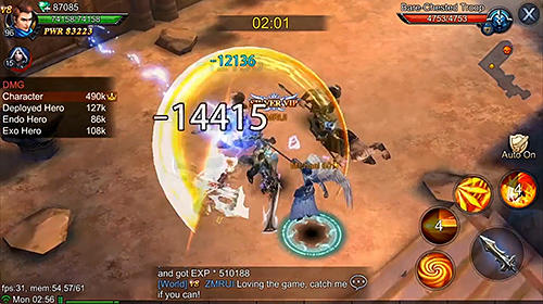 Screenshots do Goddess: Primal chaos. Ru free 3D action MMORPG - Perigoso para tablet e celular Android.