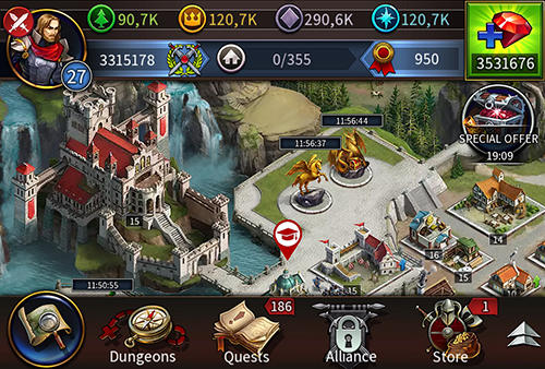 Screenshots von Gods and glory: Age of kings für Android-Tablet, Smartphone.