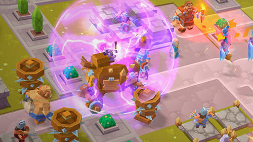 Screenshots of the Gods TD: Myth defense for Android tablet, phone.