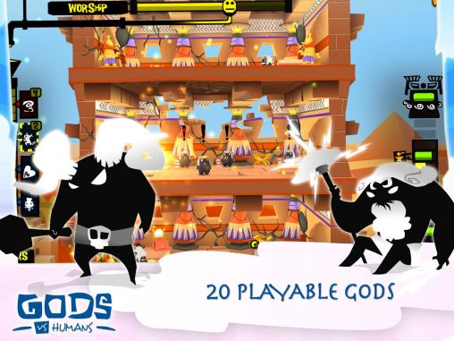Screenshots of the Gods vs humans for Android tablet, phone.