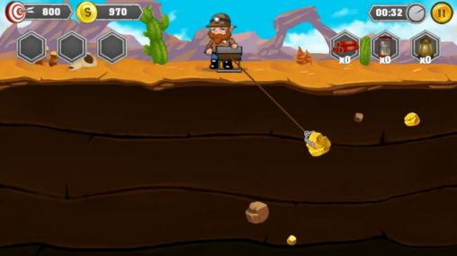 Screenshots von Gold miner: Adventure für Android-Tablet, Smartphone.