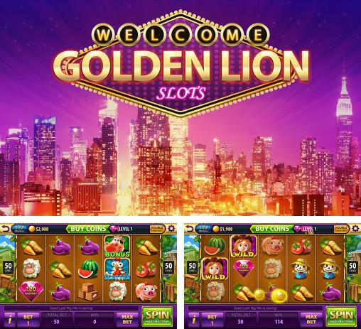 In addition to the game Slotomania for Android phones and tablets, you can also download Golden lion: Slots for free.