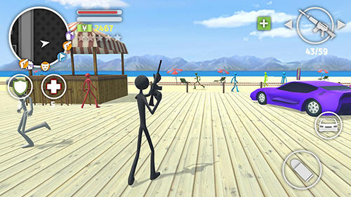 Screenshots von Grand stickman auto 5 für Android-Tablet, Smartphone.