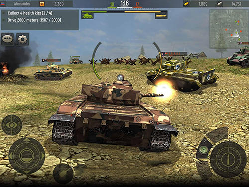 Grand tanks: Tank shooter game für Android spielen. Spiel Grand Tanks: Panzer Shooter Spiel kostenloser Download.