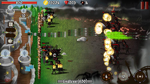 Screenshots von Grim defender: Castle and tower defense für Android-Tablet, Smartphone.