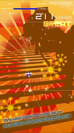 Groove coaster 2: Original style screenshot 3