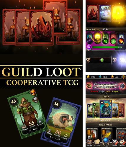 In addition to the game Blazing sword: SRPG tactics for Android phones and tablets, you can also download Guild loot: Cooperative TCG for free.