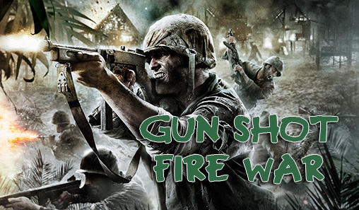 Gun shot fire war poster