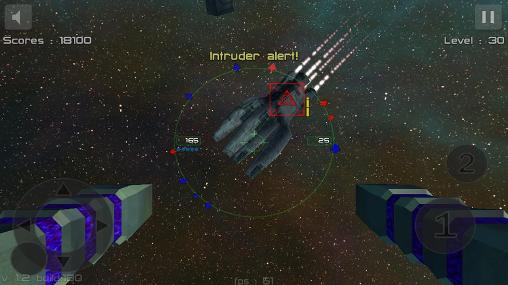 Screenshots von Gunner: Free space defender für Android-Tablet, Smartphone.
