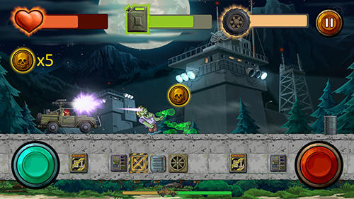 Screenshots of the Guns and wheels zombie for Android tablet, phone.