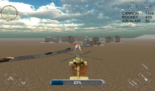 Screenshots von Gunship combat: Helicopter war für Android-Tablet, Smartphone.