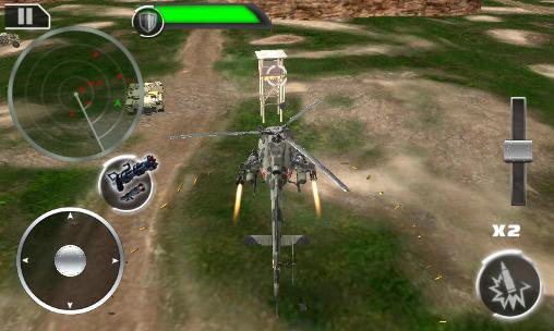 Screenshots von Gunship: Deadly strike. Sandstorm wars 3D für Android-Tablet, Smartphone.