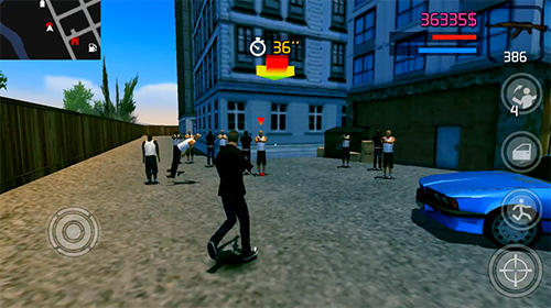 Screenshots of the Gunshot сity for Android tablet, phone.