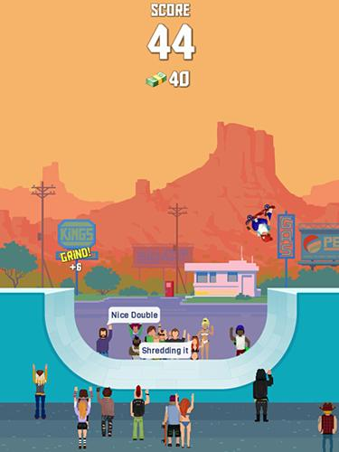 Screenshots von Halfpipe hero: Skateboarding für Android-Tablet, Smartphone.
