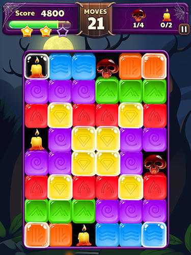 Halloween blast: Crush the cubes screenshot 2