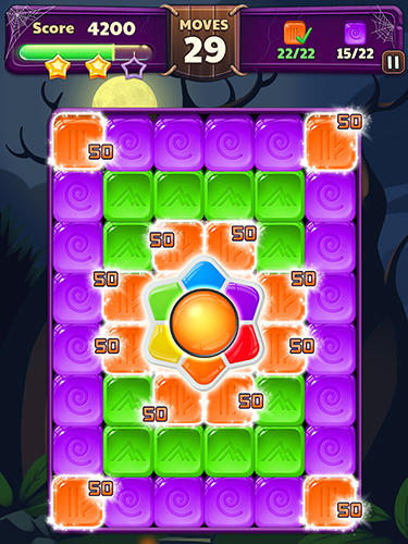 Halloween blast: Crush the cubes screenshot 3