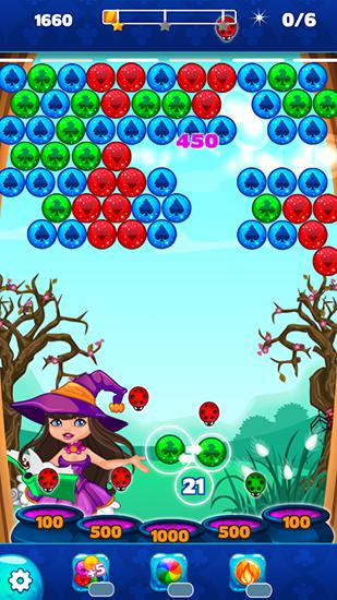 Halloween town: Bubble shooter für Android spielen. Spiel Halloween-Stadt: Bubble Shooter kostenloser Download.