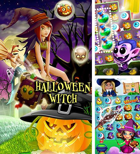 Halloween witch: Fruit puzzle