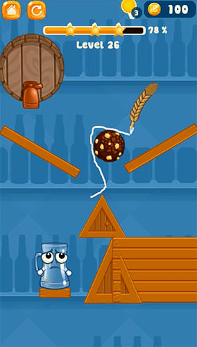 Happy beer glass: Pouring water puzzles screenshot 1