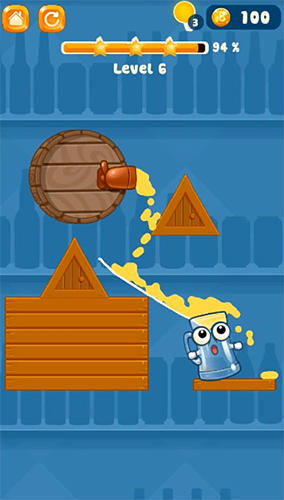 Happy beer glass: Pouring water puzzles screenshot 3