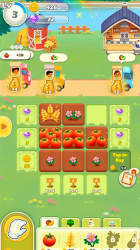 Screenshots do Happy merge: Dream farm - Perigoso para tablet e celular Android.
