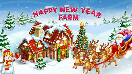 Happy new year farm: Christmas poster