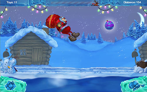 Screenshots von Happy Santa's runner für Android-Tablet, Smartphone.
