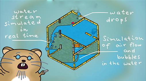 Screenshots von Hasty hamster and the sunken pyramid: A water puzzle für Android-Tablet, Smartphone.